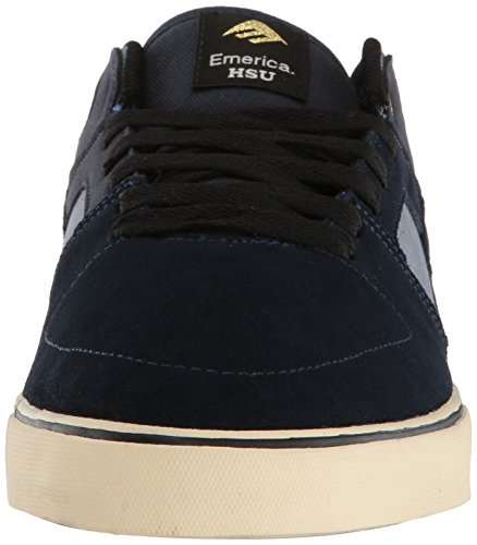 Emerica the Hsu Low Vulc, Zapatillas de Skateboarding para Hombre, Negro Azuloscuro