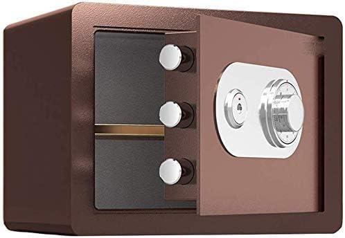 BZM-ZM SafesSafesブラウン、大容量スチール安全内閣、銀行Officeのセキュリティストレージボックス、メカニカルロック、2つのサイズ(サイズ:S)(カラー: - )