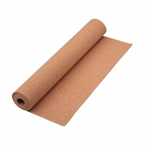Cut this 24-Inch x 48-Inch cork roll to fit your particular space. Create a uniquely shaped display surface, or use to line drawers and shelves around the house. The natural cork is durable, self-healing, and provides the added benefit of noi...
