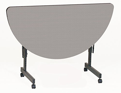 Round High Pressure Laminate - Correll FT2448HR-01 Deluxe Flip Top Table, 24