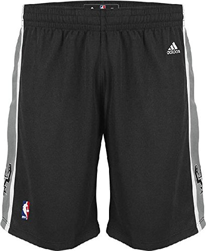 adidas San Antonio Spurs Black Tack Twill Logo Swingman Shorts (S=32-33)