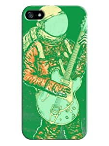 Sangu Space Guitar Earth Hard Back Shell Case / Cover for Iphone 5 and 5s - Green