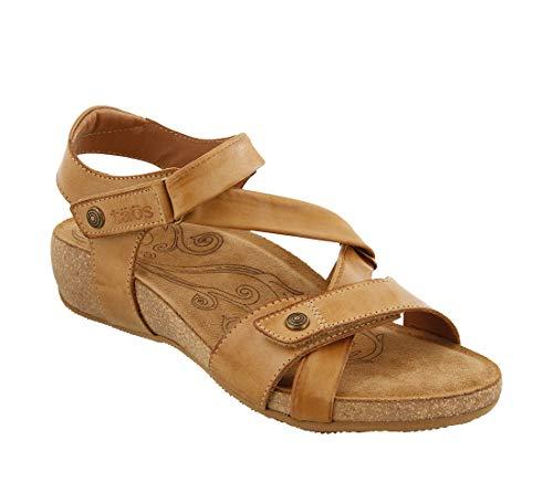 (Taos Footwear Women's Universe Camel Sandal 11-11.5 M)