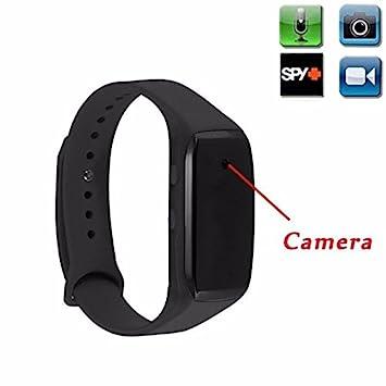 Reloj espía cámara oculta mini DVR Full HD 1920 x 1080 pulsera smartwatch para grabación oculta de vídeo y foto videocámara (no visualiza ni indica la ...