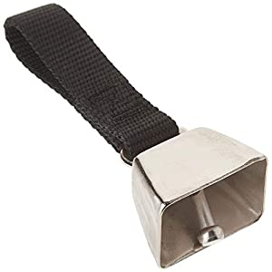 Coastal Pet Nickel-Plated Cow Bell with Nylon Strap for Tracking Dogs | Small | 1-Unit