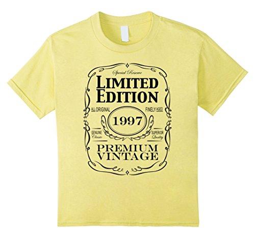 Kids 21st Birthday Gift T-Shirt - Born in 1997 Turning 21 Tee 12 Lemon