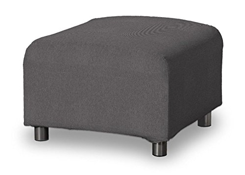 Dekoria Klippan Hockerbezug Sofahusse passend für Ikea Modell Klippan grau