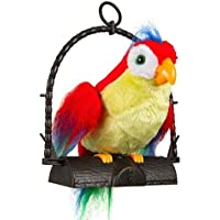ANG 7 Inch Talk Talking Back Battery Operated Parrot Bird Toy for Kids (Multicolor)