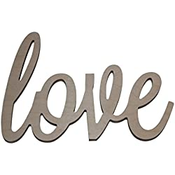 "Custom WoodWorks - 10"" Unfinished 'love' Wooden Letter Sign"