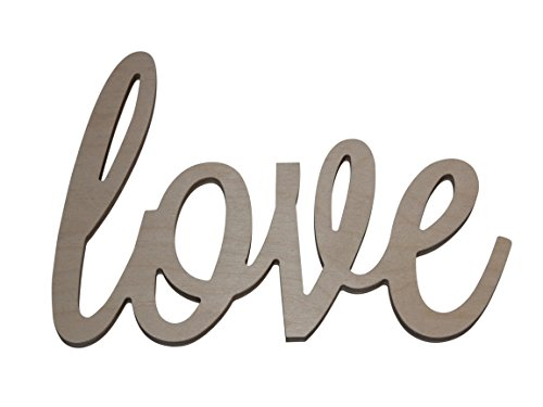 Custom WoodWorks - 10'' Unfinished 'love' Wooden Letter Sign by Custom WoodWorks