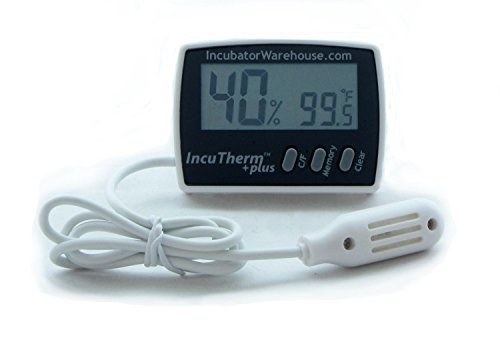 IncuTherm Plus Digital Thermometer Hygrometer w Min/Max Memory & Remote Probe ()