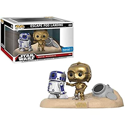 Funko POP! Exclusive Star Wars: Movie Moments - R2-D2 and C-3PO Escape Pod Landing in Tatooine