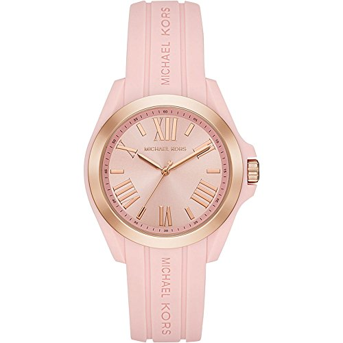 Pink Plastic Watch (Michael Kors Women's 'Bradshaw' Quartz Plastic and Silicone Casual Watch, Color:Pink (Model: MK2732))