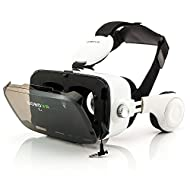 Zanasta VR Casque Lunettes Réalité Virtuelle 3D Headset Universal jeux vidéo réglable pour Apple iPhone, Samsung Galaxy, Sony Xperia et plus d'autres