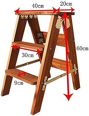 Multifuncional Escalera De Mano Heces/Taburete De Madera Portátil Plegable Taburete/Cocina Heces/Heces Escalera De Su Casa/Escalera Plegable Fácil: Amazon.es: Bricolaje y herramientas