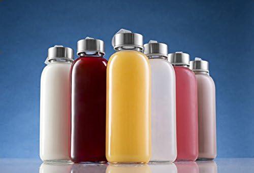 homequip 6 Pk, 16 oz de cristal botellas de agua con mangas de colores y Loop- sin BPA, Hermético y resistente a las fugas: mejor reutilizable deportes ...