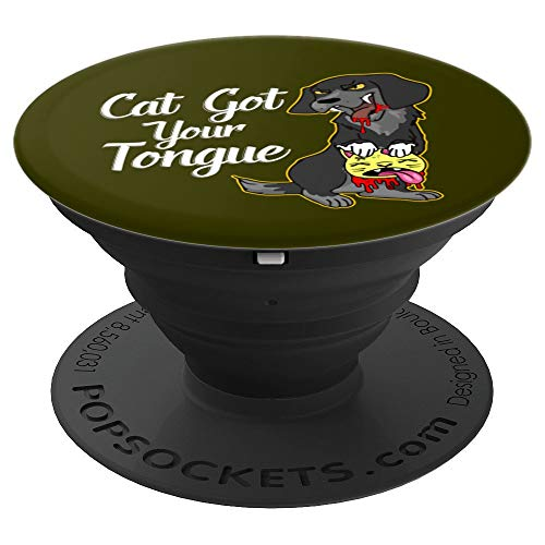 Halloween Gift - Cat Got Your Tongue PopSockets Grip and Stand for Phones and Tablets ()