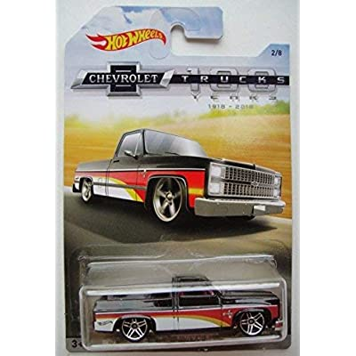 Hot Wheels CHEVROLET TRUCKS 100 YEARS, BLACK '83 CHEVY SILVERADO 2/8: Toys & Games