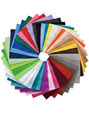 Felt Sheets - Multi Color Variety Pack - 40 Pieces - 15 cm x 15 cm (6 inches x 6 inches) - Felt Pieces - Felt Squares - 1.4mm Thickness - Soft Felt - DIY Fabric Squares