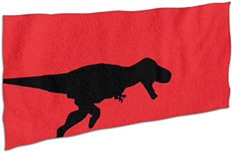 NiYoung Premium Bath Towels Hand Towels for Home, Hotel, Spa, Beach Gym - Funny Creative Dinosaurs Eat People Red Towels, Soft Absorbent Shower & Bath Towel Extra Large Bathroom Towel - 28x56 inch