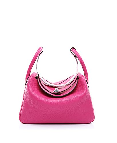Ainifeel Women's Genuine Leather Shoulder Handbag And Purse Hobo Bag (Hot pink) by Ainifeel