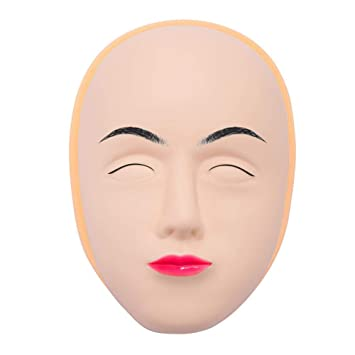 72266b94a Amazon.com: Tattoo Practice Skin Head, 5D Eyebrow Eyeline Lips Model for  Professional Microblading Permanent Makeup Mannequin Training Head Face For  ...