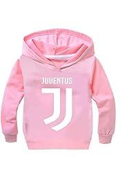 KK-Jim Unisex Juventus Fans Hoodie-Long Sleeve Pullover Hooded Tops for Kids(1-14 Years)