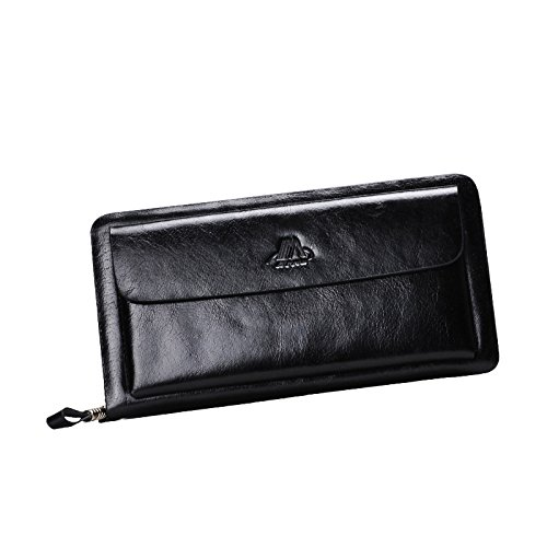 Yilen Men's wallet, Eilen Top Genuine Leather Fashion Multi Propose Envelope Lace Wallet Case Card Purse With Zipper For iPhone 5 5S Samsung Galaxy S3 S4 S5 S6, NOTE3, NOTE4, iPhone 5, iphone 6 4.7inch, iphone 6 plus 5.5inch, HTC ONE M8 M7