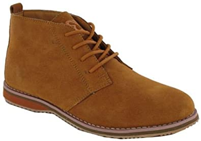 New Mens Real Leather Chukka Lace Up Desert Ankle Boots Shoes Size
