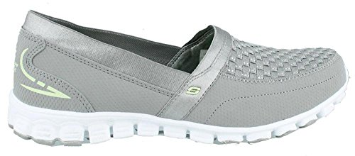 Skechers Donna Ez Flex Due Passi 22619 Slip-on Sneaker Shoe Grey