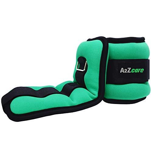 A2ZCARE Ankle Weight/Wrist Weight Set with Neoprene Padding for Soft