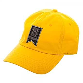 Amazon.com  Harry Potter Hufflepuff Woven Label Traditional Adjustable Hat  Cap  Clothing 856e4f29e4f9