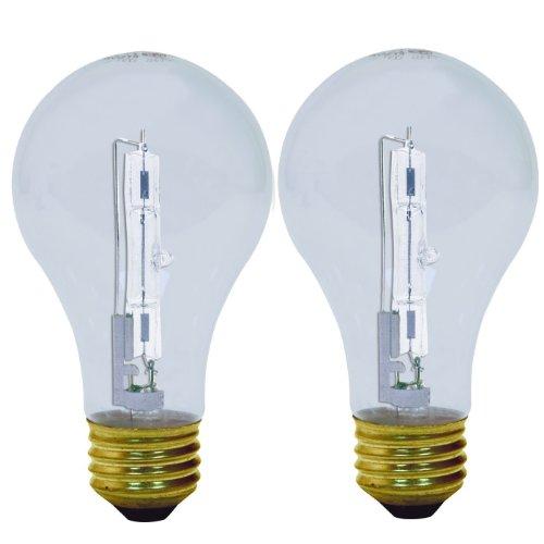 GE Lighting 78795 Energy-Efficient Crystal Clear 29-Watt (40-watt replacement) 430-Lumen A19 Light Bulb with Medium Base, 2-Pack (Clear General Purpose Light Bulb)