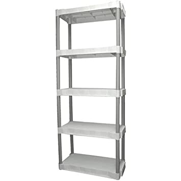 Plano 5 Shelf Storage Unit, Light Taupe