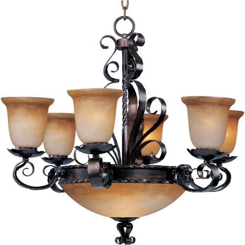 Maxim Lighting Aspen Oil Rubbed Bronze 9-Light Chandelier 20613VAOI