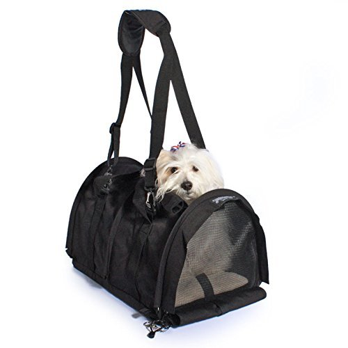 SturdiBag Large Pet Carrier with Heavy Mesh – Black by Sturdi Products