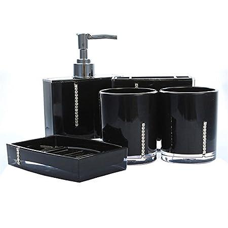 Badezimmer Accessoires - SODIAL(R)5 Teiliges Badezimmer Bad WC ...