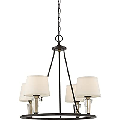 Quoizel WDN5004WT Four Light Chandelier, Large, Western Bronze