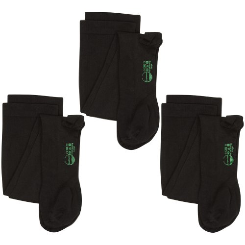 3 Pair EvoNation Men's USA Made Graduated Compression Socks 20-30 mmHg Firm Pressure Medical Quality Knee High Orthopedic Support Stockings Hose - Best Comfort Fit, Circulation, Travel (Large, Black) by EvoNation (Image #3)
