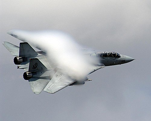 LAMINATED 30x24 Poster: Air Show Military F-14 Tomcat Jet Fighter Aircraft High Speed Fast Flying Airshow Aviation Plane Airplane Water Vapor - F-14 Tomcat Wall