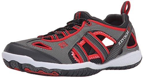 Body Glove Men's Dynamo Force Hydro Multi Sport Shoe, Grey/Red, 11 M US