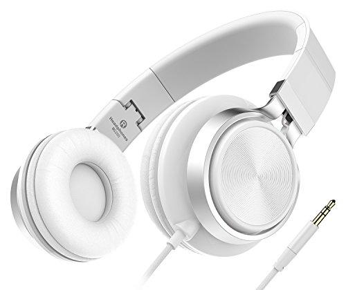 Kopfhörer, Honstek 2016 Neue Stereo faltbare Kopfhörer, Solid Bass Over-Ear-Kopfhörer für Smartphones (iPhone / Samsung / Andriod / HTC) / Laptops / Computers / MP3-Players (iPod) / Tablets (iPad) mit Soft-Ohrpolster (Weiß)