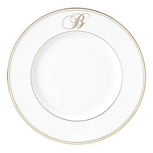 Lenox Federal Gold Script Monogram Dinnerware Accent Plate, B