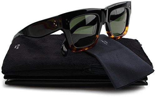 a89751f2de Celine 41054 S Sunglasses Black Havana Tortoise w Crystal Green (0FU5) 41054  0FU5 1E 50mm Authentic - Buy Online in KSA. celine products in Saudi Arabia.