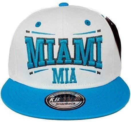 Ethos KB Hombre Mujer Miami Gorra Snapback - Blanco/Azul Cielo ...