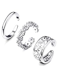 Thunaraz Thunaraz 3-18Pcs Toe Rings for Women Girls Adjustable Open Toe Ring Gifts Jewelry Set