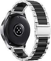 SUNDAREE Compatible con Correa Galaxy Watch 46MM,22MM Metal Acero Inoxidable Reemplazo Correa Banda Pulsera de Repuesto Correa para Samsung Galaxy ...