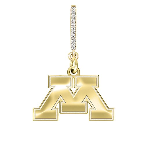 Minnesota Golden Gophers Yellow Gold and Diamond Necklace | College Necklaces (Gopher Jewelry Pendant)