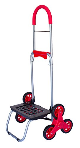 Stair Climber Mighty Max Dolly Cart, Red Handtruck Hardwa...