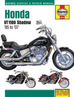 amazon com honda shadow vt1100 haynes repair manual 1985 2007 rh amazon com honda shadow 1100 service manual 1995 honda shadow 1100 service manual